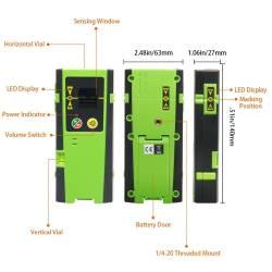 Caractéristiques Recepteur Laser Huepar LR-6RG