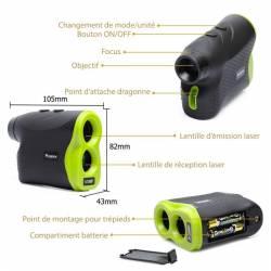 Caractéristiques Telemetre laser Huepar 5-1000P