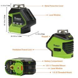 Caractéristiques Niveau laser Huepar 621CG