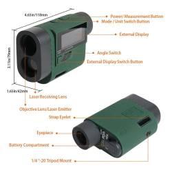Détails Telemetre laser Huepar HLR1000 (1000m)
