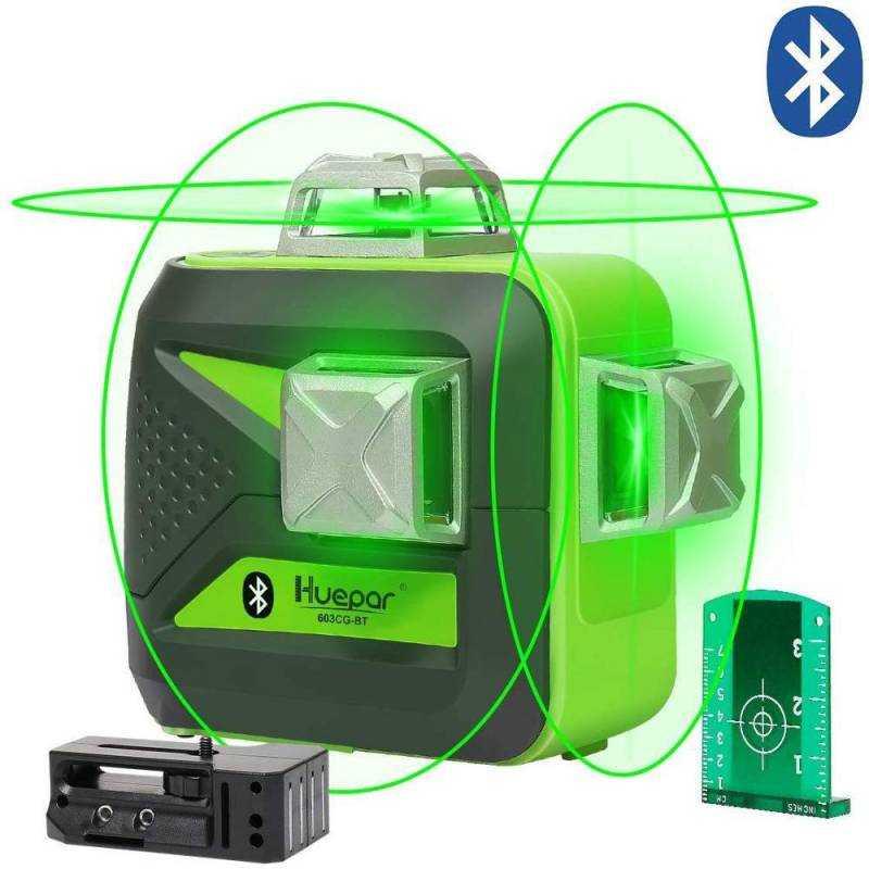 Niveau laser Bluetooth Huepar 603CG-BT