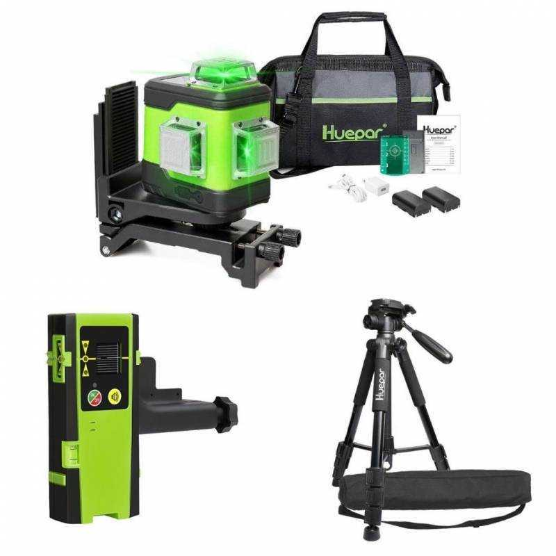 Niveau laser Huepar 503CG + Trepied + Recepteur