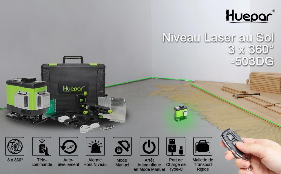 Niveau laser au sol pour carreleurs 503DG