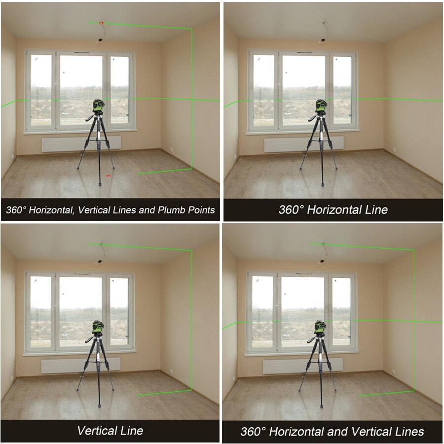 Lignes laser verticales et horizontales
