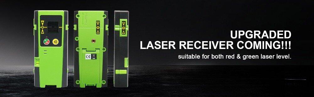 Récepteur pour niveaux laser verts et rouges