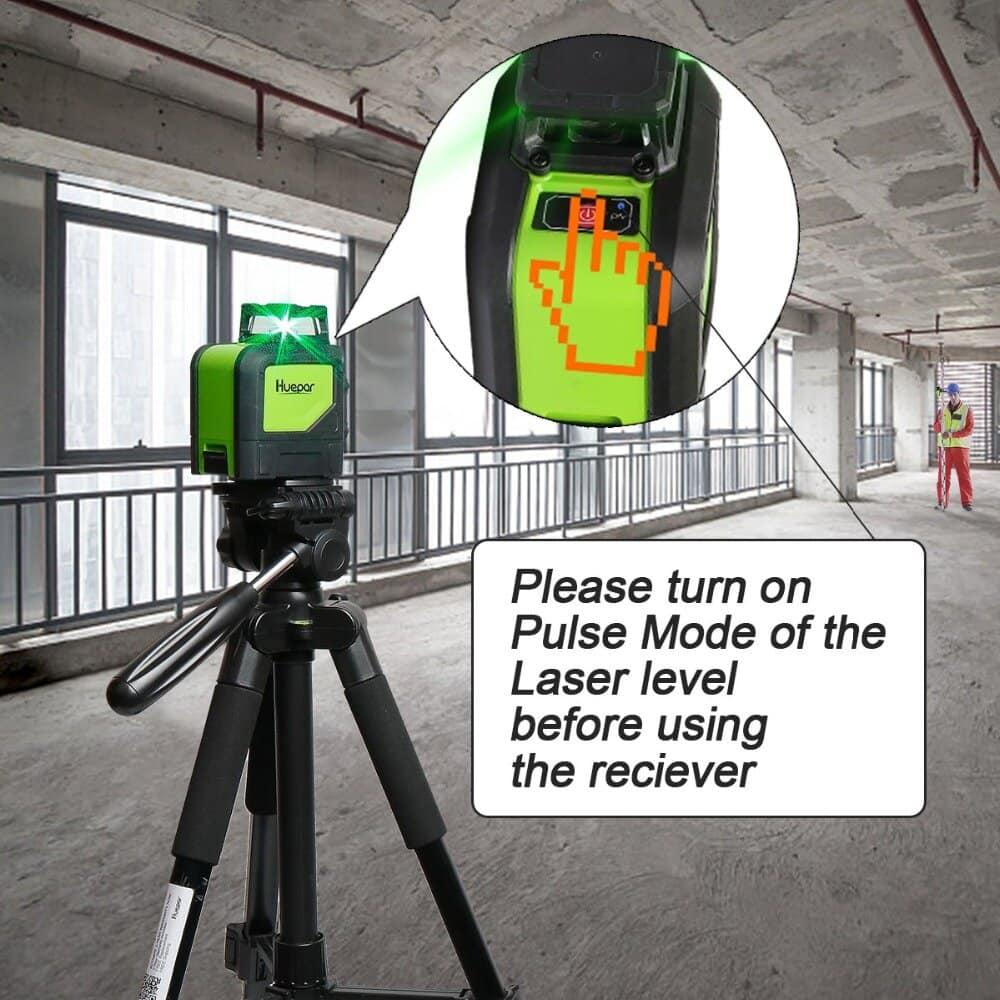 Utilisation du récepteur laser
