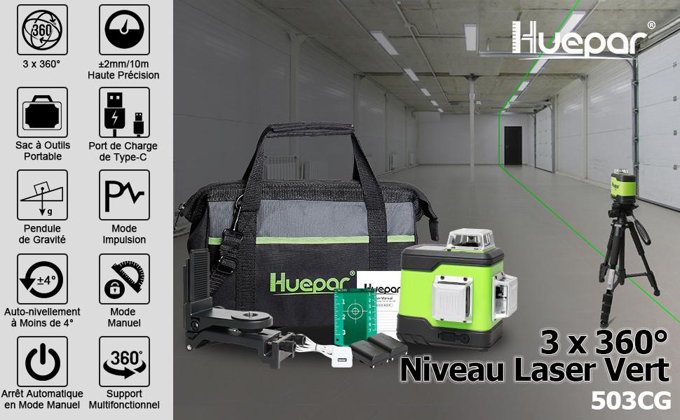 Niveau laser vert 503CG