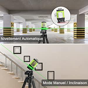 Laser automatique et manuel