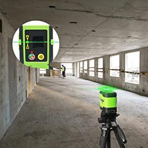 Niveau laser de chantier avec récepteur