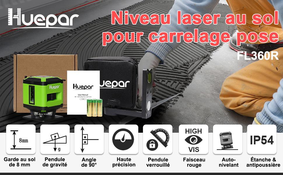 Niveau laser pour pose de carrelage FL360R