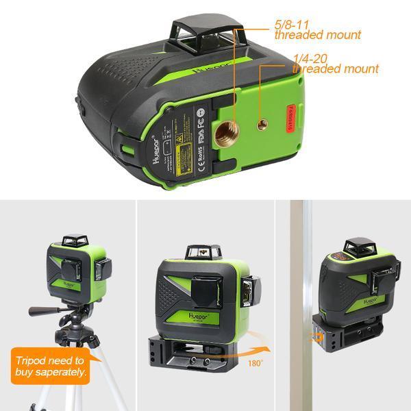 Points de montage pour niveau laser