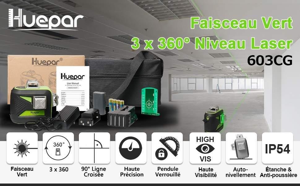 Niveau laser Huepar vert